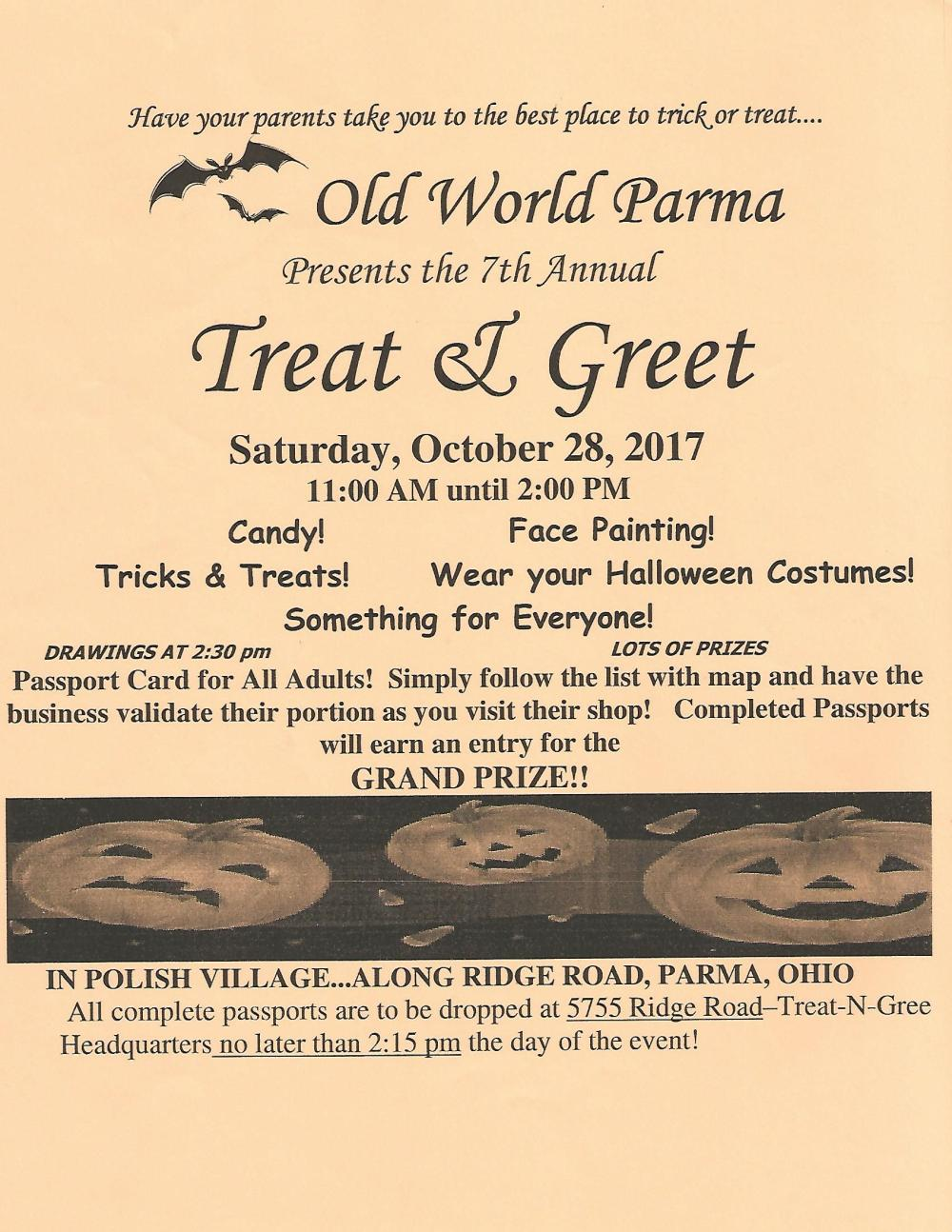 Treat and Greet 2017
